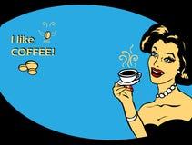 Cartel del vector del amante del café ilustración del vector