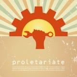 Cartel del vector del proletariado Foto de archivo libre de regalías