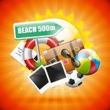 Cartel del verano Foto de archivo libre de regalías