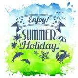 Cartel del verano Imágenes de archivo libres de regalías