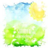 Cartel del verano Imagenes de archivo