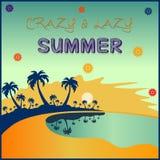 Cartel del verano ilustración del vector