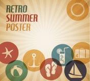 Cartel del verano del vector Imagenes de archivo