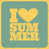 Cartel del verano del vintage Fotografía de archivo