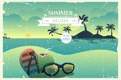 Cartel del verano del vintage Fotos de archivo libres de regalías
