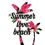 Cartel del verano Vector de la tipografía Fotografía de archivo libre de regalías