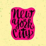 Cartel del viaje con Nueva York Imagen de archivo libre de regalías