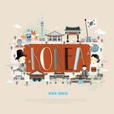 Cartel del viaje de Corea