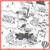 Cartel del viaje de la Corea del Sur libre illustration
