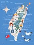 Cartel del viaje de Taiwán ilustración del vector