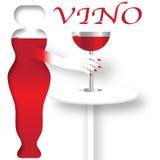 Cartel del vino Foto de archivo