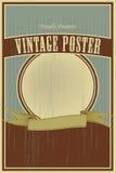 Cartel del vintage Fotos de archivo