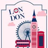 Cartel del vintage de Londres stock de ilustración
