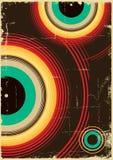 Cartel del vintage. Vector retro Fotografía de archivo libre de regalías