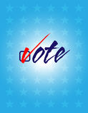 Cartel del voto Imágenes de archivo libres de regalías