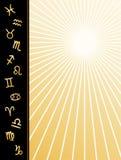 Cartel del zodiaco (jpg+eps) Foto de archivo