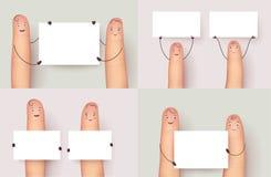 Cartel determinado del copyspace del finger que se sostiene Foto de archivo