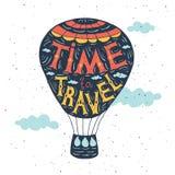Cartel dibujado mano de la tipografía Cita en el balón de aire Imagen de archivo libre de regalías