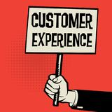 Cartel a disposición, experiencia del cliente del concepto del negocio stock de ilustración