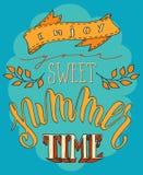 Cartel dulce del verano Imagenes de archivo