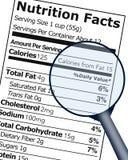 Cartel educativo de la etiqueta de los hechos de la nutrición libre illustration