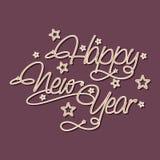 Cartel elegante para la celebración 2015 de la Feliz Año Nuevo Imagen de archivo