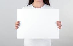 Cartel en blanco Imágenes de archivo libres de regalías
