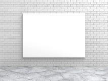 Cartel en blanco blanco en la pared de ladrillo libre illustration