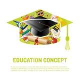 Cartel en línea de la educación Imagenes de archivo
