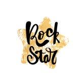 Cartel escrito mano de la tipografía de la estrella del rock libre illustration