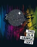Cartel espectral del partido Fotografía de archivo libre de regalías