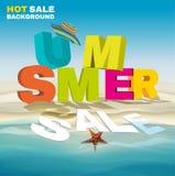 Cartel estacional de la venta del verano Foto de archivo