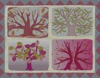 Cartel estilizado de los árboles stock de ilustración