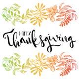 Cartel feliz de la tipografía de la acción de gracias Foto de archivo libre de regalías