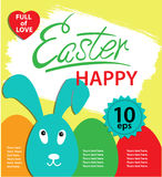 Cartel feliz de Pascua stock de ilustración