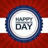 Cartel feliz de presidentes Day ilustración del vector