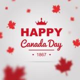 Cartel feliz del día de Canadá fotografía de archivo