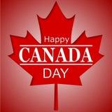 Cartel feliz del día de Canadá 1 de julio Fotos de archivo libres de regalías