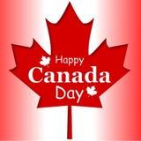 Cartel feliz del día de Canadá 1 de julio Fotografía de archivo libre de regalías