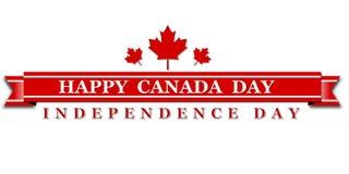 Cartel feliz del día de Canadá 1 de julio Foto de archivo