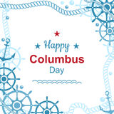 Cartel feliz del día de Colón Fotografía de archivo