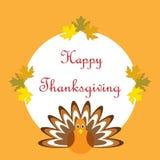 Cartel feliz dibujado mano de la acción de gracias Imagenes de archivo