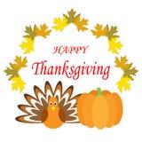 Cartel feliz dibujado mano de la acción de gracias Foto de archivo libre de regalías