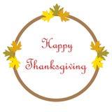 Cartel feliz dibujado mano de la acción de gracias Imagen de archivo