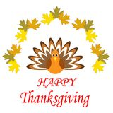 Cartel feliz dibujado mano de la acción de gracias Fotos de archivo