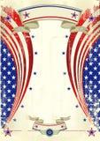 Cartel festivo americano Fotografía de archivo libre de regalías