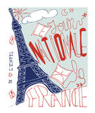 Cartel francés Imagenes de archivo