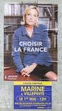 Cartel francés de la elección - la segunda ronda Imágenes de archivo libres de regalías