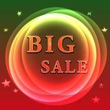 Cartel grande de la venta Imagen de archivo