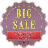 Cartel grande de la venta Imagen de archivo libre de regalías